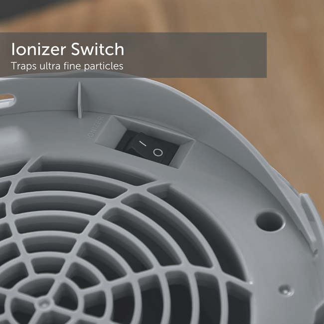 Ionizer switch on the NOMA medium air-purifier's