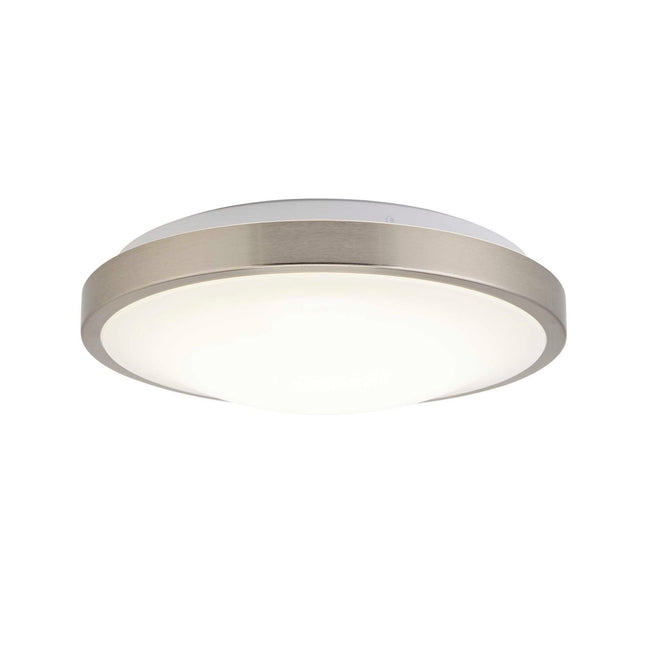 "LED Flush Mount Ceiling Light Thin Design And Dimmable - 12"" Width - Brushed Nickel"