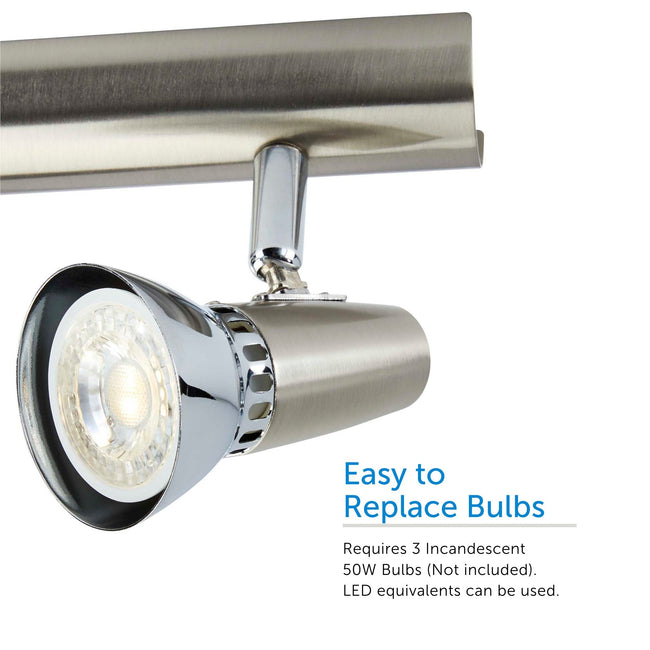 Futura track light bulb close up - easy to replace bulbs
