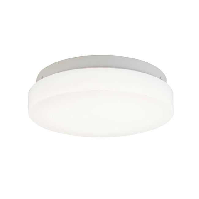 "LED Flush Mount Ceiling Light With Frosted White Shade - 7"" Width - Brushed Nickel"