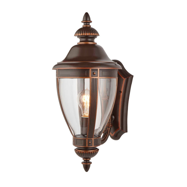 Manor Outdoor Wall Lantern / Sconce Up-Facing Waterproof Light - Bronze