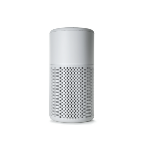Medium white air purifier on white background