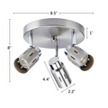 "Eglinton steel 3-light ceiling fixture dimensions - 8.5"" X 8"""