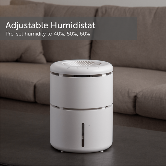 Humidifier Evaporative With Humidistat For Large Rooms 4.0 Liter