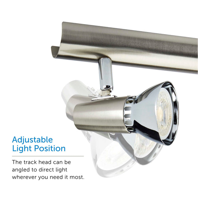 Futura track light showcasing adjustable light position – displaying 3 positions