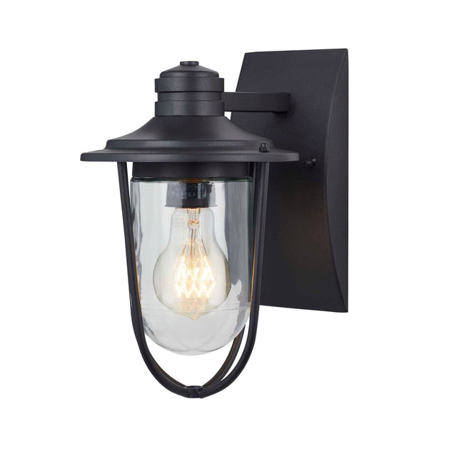 Wellesley Outdoor Wall Lantern / Sconce Down-Facing Waterproof Light - Black