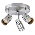 Eglinton Track Lighting Kit LED Adjustable Semi-Flush-Mount Ceiling Fixture - 3-Light - Steel