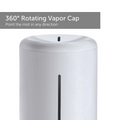 Rotating Vapor Cap close up - Large 4L ultrasonic humidifier