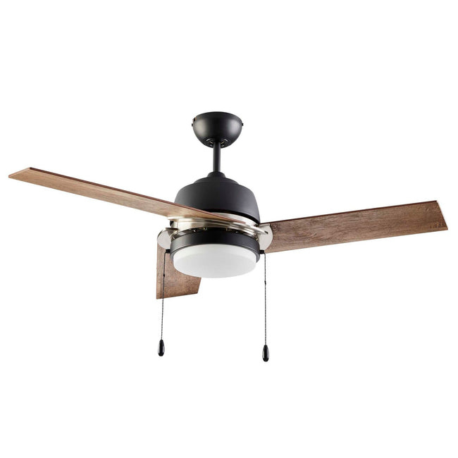 Ciara Ceiling Fan with Light - 3 Blades - Bleach Maple on white background