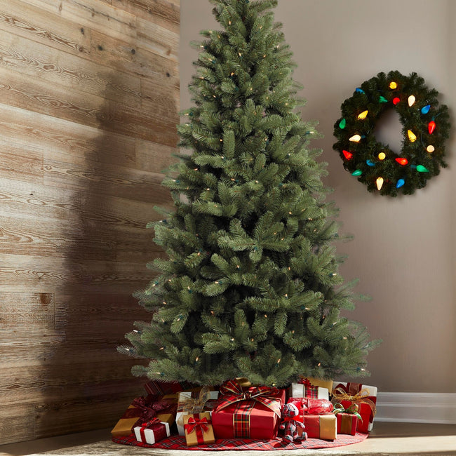 technology-Hudson Spruce 6.5-Ft Christmas Tree - 300 Warm White LED Lights