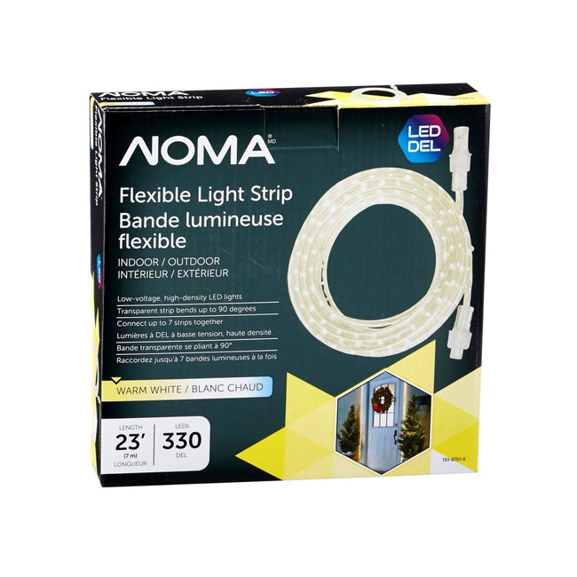 NOMA 23 Ft Flexible LED Rope Light - Warm White, Packaging Box