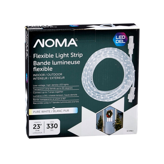 NOMA 23 Ft Flexible LED Rope Light - Pure White, Packaging Box