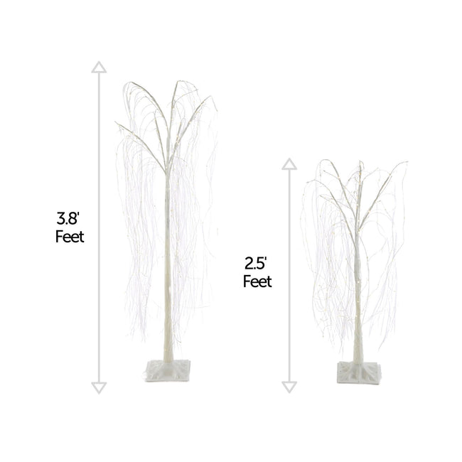 technology-Willow Tree Pre-Lit LED Christmas Lawn Décor - Warm White, 2 Pack