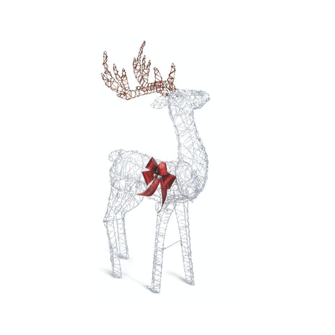 NOMA 4 Ft Pre-Lit Micro-Brite LED Reindeer - Christmas Lawn Decor.  White Background