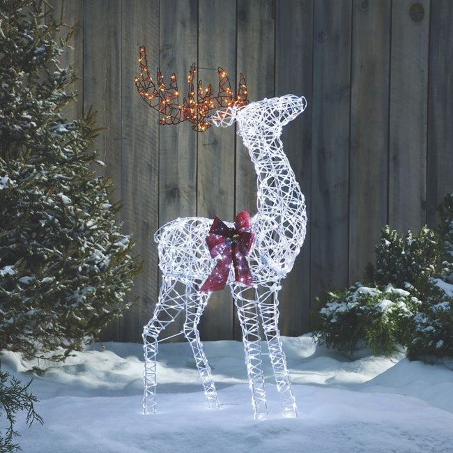 technology-Micro-Brite Deer Pre-Lit LED Christmas Lawn Décor