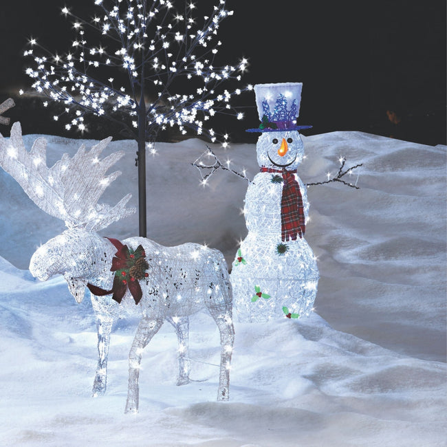 technology-Twinkling Snowman Pre-Lit LED Christmas Lawn Décor