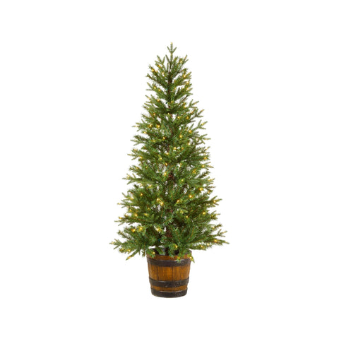 Arctic Spruce 5-Ft Potted Christmas Tree - 200 Micro-Brite LED Lights