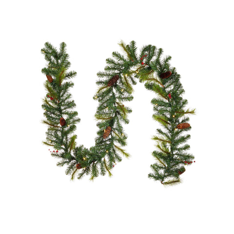 Carolina Pine 9-Ft Pre-Lit Christmas Garland