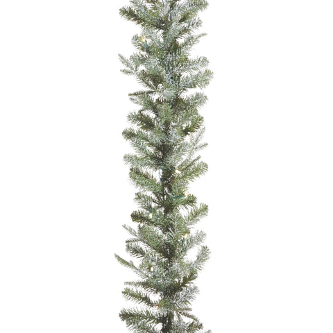 Frosted 9-Ft Pre-Lit Christmas Garland