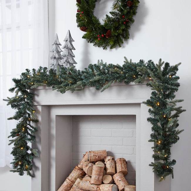technology-Mini Pinecone 9-Ft Pre-Lit Christmas Garland