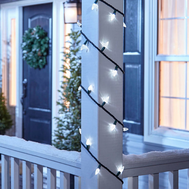 technology-C6 LED Christmas String Lights - 70-Count - Pure White