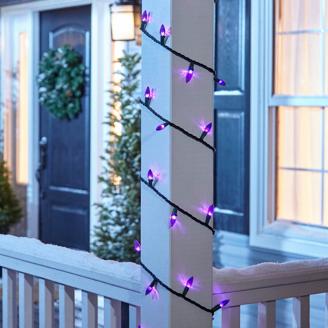 technology-C6 LED Christmas String Lights - 70-Count - Purple
