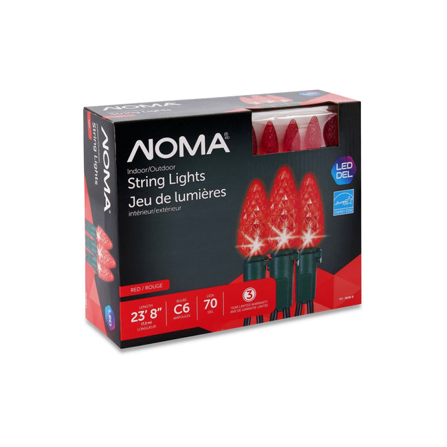 NOMA C6 Red String Lights Packaging Box on a White Background