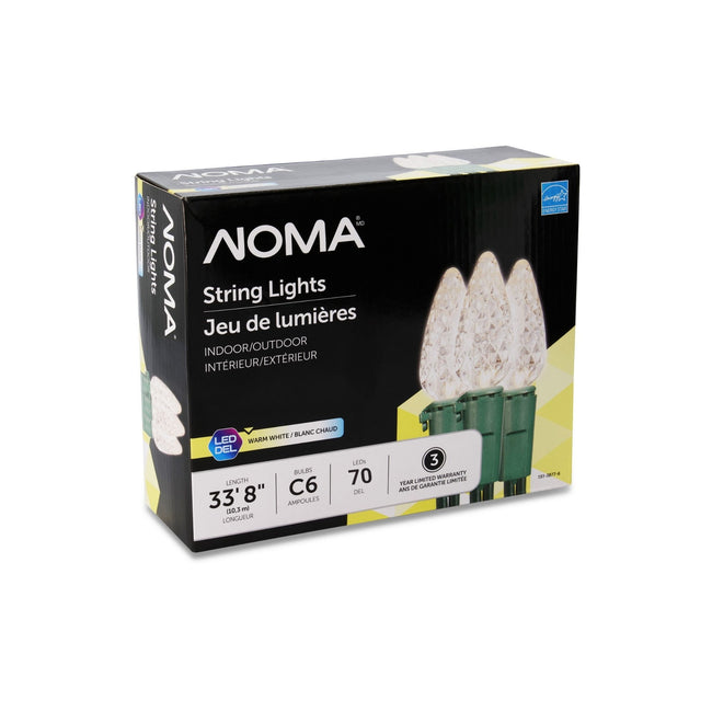 NOMA C6 Warm White String Lights Packaging Box on a White Background