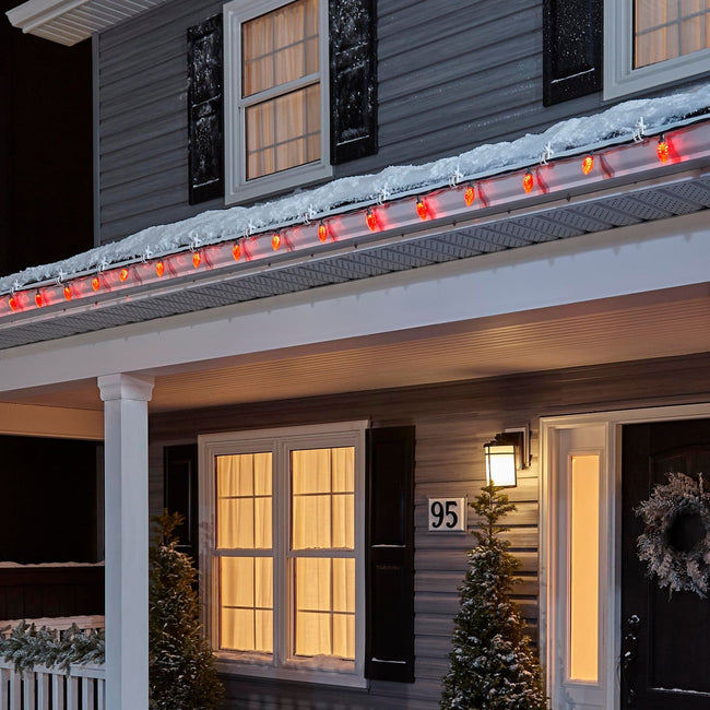technology-C9 LED Christmas String Lights - 25-Count - Red