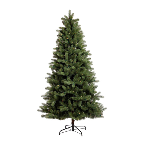 NOMA 6.5 Ft Hudson Spruce Christmas Tree with Lights. White Background.