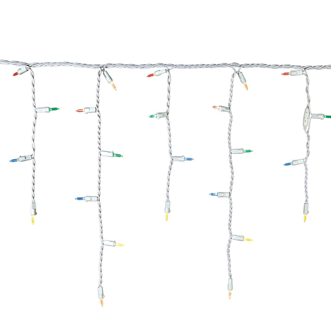 NOMA Mini Icicle Multi-Color String Lights Strand on White Background