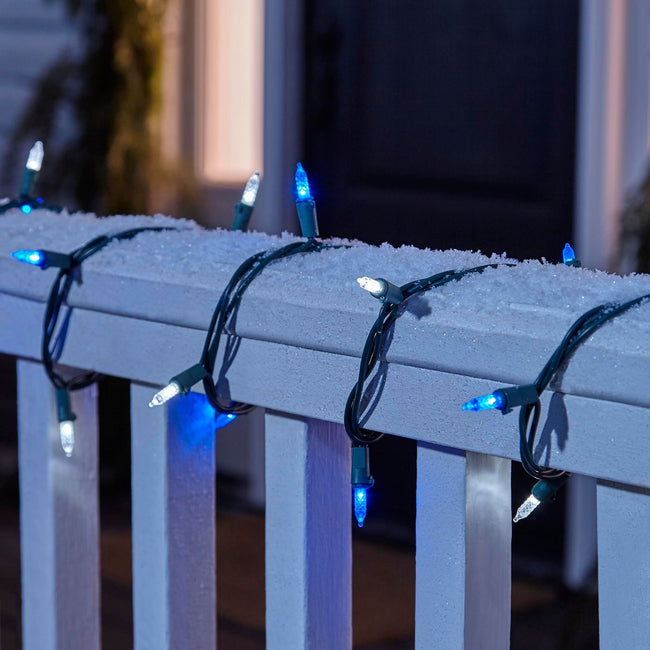 technology-Mini LED Christmas String Lights - 70-Count - Blue & White