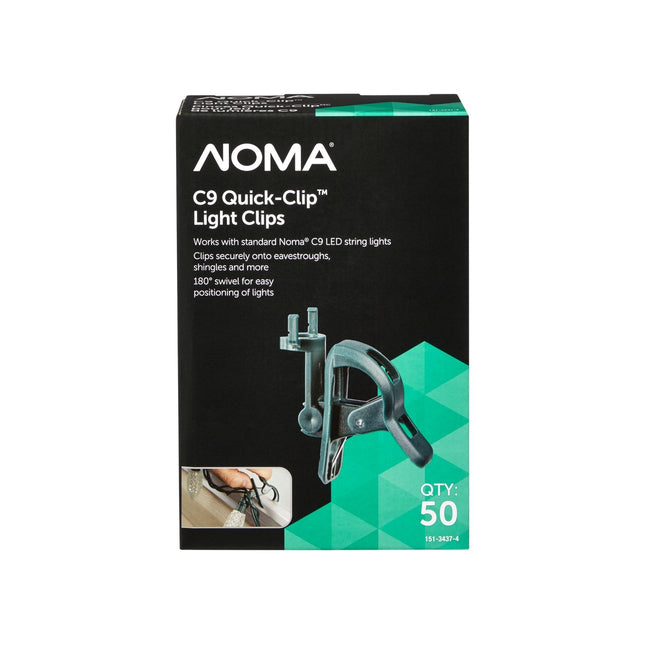NOMA Green Quick Clip C9 Replacement Clip - 50 Pack, Packaging Box
