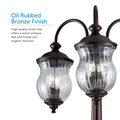 Astoria Outdoor Lamp Post / Street Light Waterproof Three-Head Down Facing  - 7 Ft - Oil Rubbed Bronze
