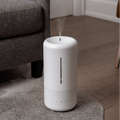 Mist rising from humidifier in a living room setting