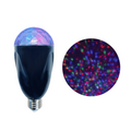 NOMA LED Kaleidoscope Projector Light For Holiday - Multi-color on white with projection on right
