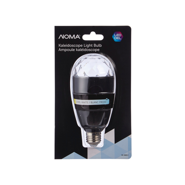 NOMA LED Kaleidoscope Projector Light For Holiday - White in packaging