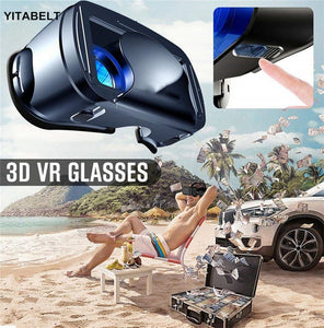 2020 3D VR glasses full-screen wide-angle head-mounted magic mirror Blu-ray smartphone