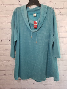 Avenue Leisure Teal Pullover Size 14/16