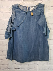 TCEC Chambray Blouse Size Large