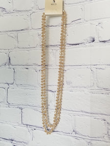 Double Looped Beaded Necklaces