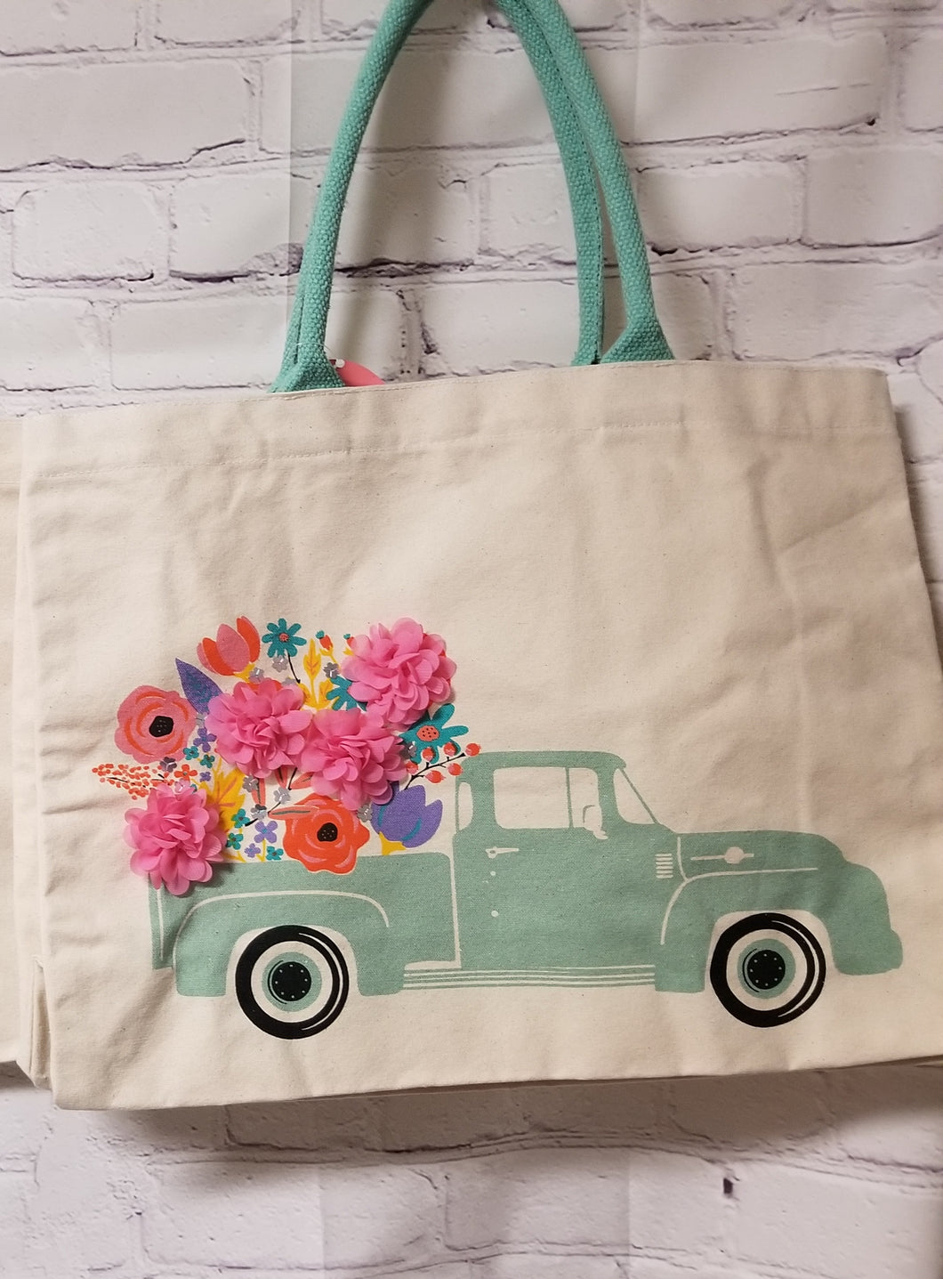 Medium Canvas Tote Bag-Truck