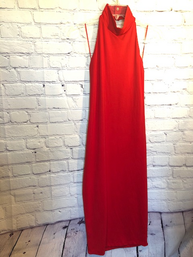 Susana Monaco Red Halter Dress Size Medium