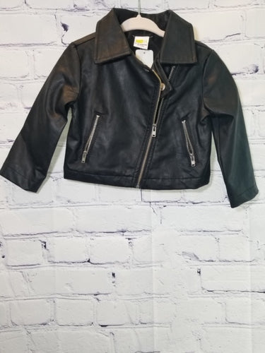 Carters Black Leather Jacket 12-18 Months