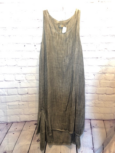Simply Couture Whitewash Grey Dress Size Medium