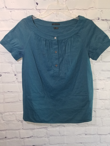 Theory Teal Blouse Size Small