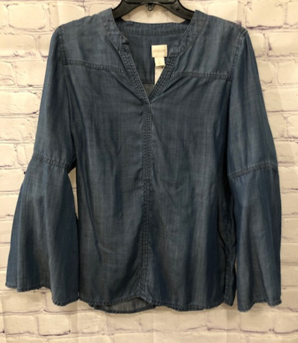 Chico's Flare Sleeve Blouse Size 0