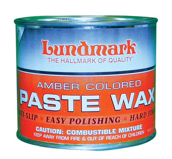 Lundmark  Amber Colored  Hand Rubbed Old World  Paste Wax  Liquid  16 oz.