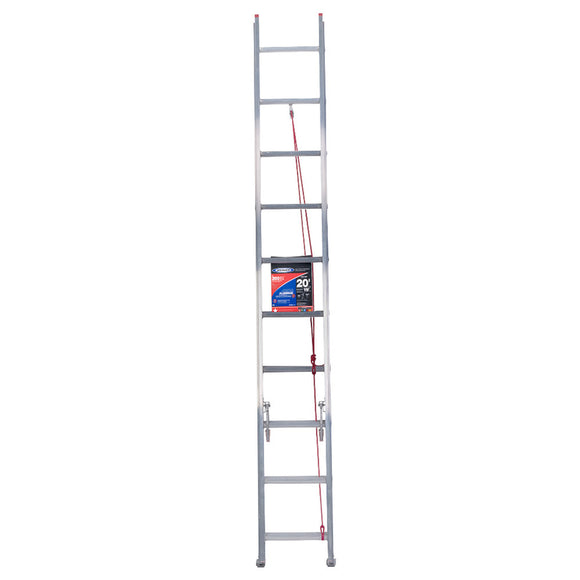 Werner  20 ft. H x 16 in. W Aluminum  Extension Ladder  Type III  200 lb.