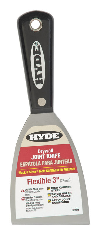 Hyde  Black & Silver  3 in. W Carbon Steel  Chiseled-Edge  Paint Scraper